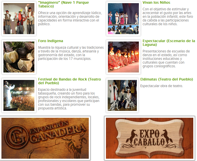 Atracciones Feria Tabasco 2011