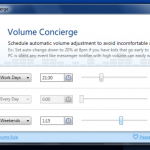Volume Concierge: Baja el volumen del PC en los días y horas que quieras